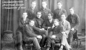 Langston Hughes with a group of Central Asian writers during a visit to the USSR (which he regarded as a land of hope and egalitarianism) from 1932 -33. (Photo: steppe magazine.com, courtesy of David Chioni Moore).