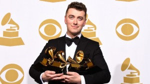 Young Grammy winner Sam Smith got the heavy hand of the TVJ censor on Sunday evening. How dare he mention his former male partner? (Photo: WireImage)