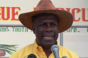 President of the Jamaica Agricultural Society (JAS), Senator Norman Grant, addresses the 2015 staging of the Hague Agriculture and Livestock show in Falmouth, Trelawny on Wednesday, February 18. (Photo: Jamaica Information Service)