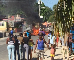 Westmoreland protests over an alleged police killing. Details remain unclear. (Photo: Loop Jamaica)