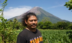 Norvin Somarriba, a tour guide on Ometepe. Photograph: Jonathan Watts for the Guardian