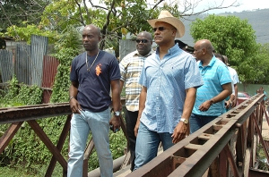National Security Minister Peter Bunting visits August Town. (Photo: Loop Jamaica)