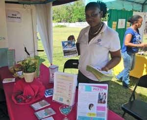 Nicole at the B.A.S.E. Foundation booth. Did you know March is Endometriosis Awareness Month? There will be an Open Forum on the topic at UWI Medical Sciences Building on March 19 at 5:30 pm. AND join the Endo March, March 28 in Kingston! www.endomarchjamaica.com