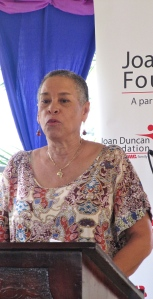 """Founding member of WROC Joan French packed a punch in her presentation - made without notes. Caribbean countries are """"not doing so well"""" in terms of women's rights, she said., adding: """"Countries will be judged by the way they recognize diversity in their constitutions"""" (and in their actions, I would add). Powerful commentary!"""