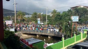 Jamaican workers at the Moon Palace in Ocho Rios protested last week over outstanding wages, and are disgruntled at the number of Mexican workers employed there. (Photo: On The Ground News Reports)