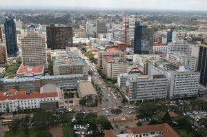 A view of Central Nairobi, Kenya.