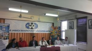 The Jamaica Manufacturers' Association press briefing today. (Photo: Facebook)