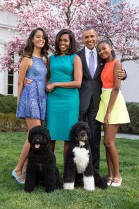 The Obamas' Easter photo, shared on social media. Aren't they adorable? (White House pic)