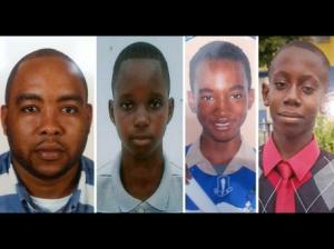 In photos contributed by relatives (from left) are 35-year-old accounts clerk, Marquis Hamilton; 16-year-old Alex Turner, 14-year-old Ricardo Briscoe and 14-year-old Raymond Givans who were and killed in Clarendon. (Gleaner)