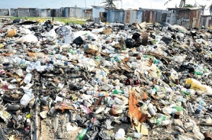 The garbage dump in Middle Cay (Pedro Cays) in September 2012. Hello, NSWMA?