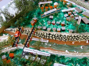 A part of the incredibly detailed model of the Cassava Piece community by Oberlin High School, which won Most Creative Display. (My photo)