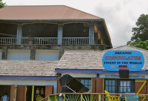 The Grenada Chocolate Company, a tourist attraction. (My photo)
