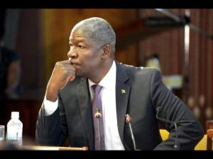 Former Commissioner of Police Owen Ellington in thoughtful mood at the West Kingston Commission of Enquiry. (Photo: Gleaner)