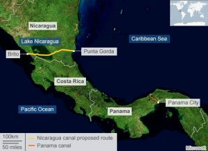 The planned canal will cut right through Lake Nicaragua, the country's main source of fresh water.