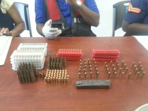 Congratulations to the police for this big seizure of nearly 300 rounds of ammunition in East Kingston yesterday. Six people were arrested. (Photo: On The Ground News Reports)