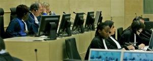 Pre-Trial Judges conducting a hearing © ICC-CPI / Associated Press