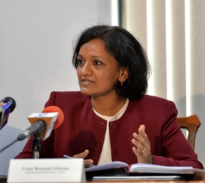 The new IMF Mission Chief for Jamaica Uma Ramakrishnan. (Photo: JIS)