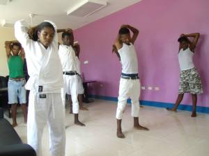 Directed by Sepai Donavan Laing, young people got a chance to explore anger management through contact sports such as Karate.
