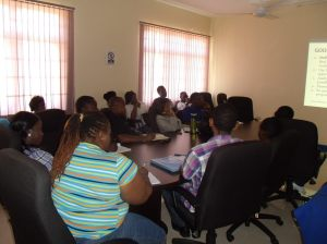 A learning session at the 2014 summer camp.