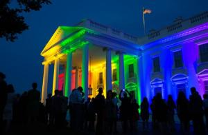 #LoveWins The White House lit up with rainbow colors. (Photo: Pete Souza)