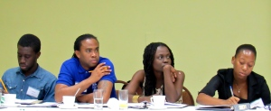 Participants in a social audit training session organized by NIA, May 26-27 at Four Seasons Hotel in Kingston. (My photo)