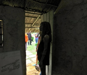 Yashika standing in the doorway of the slave house. It was hard to spend much time in there.