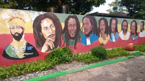 I could hardly recognize the Marley clan in this mural, however. If the names had not been painted underneath the faces…