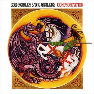 "The cover of the album ""Confrontation"" by Neville Garrick. It looks gorgeous in stained glass."