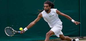 German-Jamaican Dustin Brown in action. (Photo: Fox Sports)