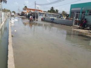 Rocky Point, Clarendon, flooded by sea waters. (Photo: Shanique Samuels/Gleaner)