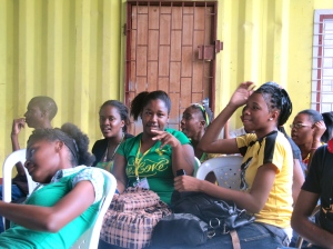 Celebrating Jamaica Day at the Abilities Foundation. (My photo)