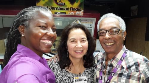BirdsCaribbean's energetic Executive Director Dr. Lisa Sorenson (center) met Paula-Anne Porter-Jones and Alan Magnus at RJR studios. Lisa, who has a deep passion for her work, was a guest on their morning show.