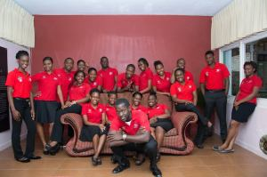 UWI Leads members pose for their picture.