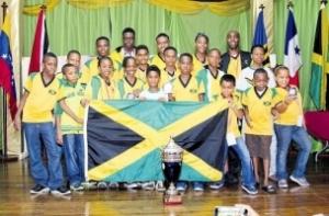 Jamaica's winning chess players.