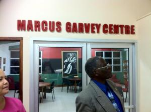 There's a really nice Marcus Garvey reading room in the St. Ann's Bay Public Library. (Photo: Prof. Rupert Lewis/Twitter)