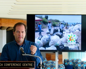 "Francois Chalifour of Recycling Partners: ""We are building."" (My photo)"