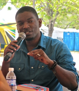 Author Roland Watson-Grant speaks at last year's Aunty Roachy Festival. (My photo)
