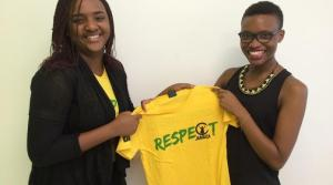 21-year-old Jherane Patmore (right) is a new ambassador for Respect Jamaica. (Photo: Loop Jamaica)
