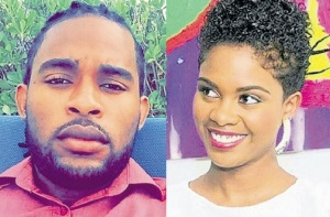 O'Shane Reid and his friend Shanise Simmonds died Wednesday night in a car crash in St Ann. (Photo: Jamaica Observer)