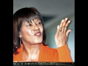 Our Prime Minister Portia Simpson Miller at a People's National Party conference last year. (Photo: Gleaner)