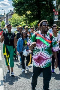 Over 3,000 West Indians, British citizens and their supporters marched peacefully through London on August 1 for the cause of reparations. Are Jamaicans ready to stand up for such issues? No, 99% just pay lip service. (Photo: Jerry Tremaine/BrixtonBuzz)