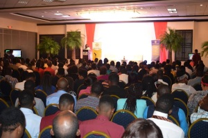 A section of the audience at the Money Talk Hackathon, from the Jamaican Mommies blog, which provided an excellent overview here: http://www.jamaicanmommies.com/2015/08/youth-money-talk-hackathon-case-for.html