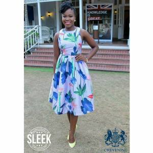 The brilliant youth activist and beautiful St. Ann girl Kemesha Kelly was there to lend support. (Photo: Sleek)