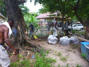 Concerned, proactive citizens clean up Negril. (Photo: NEPT/Facebook)