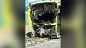 Another wrecked JUTC bus. JUTC drivers are among the most indisciplined on the planet.
