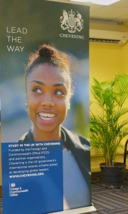 "Jamaican Chevening Scholar Alicia Maragh, who is just completing her Master's degree at London School of Economics, is the ""poster girl"" for the program worldwide. (My photo)"