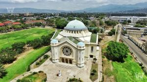 Holy Trinity Cathedral, North Street, Kingston. (Drone photo: Warren Weir)