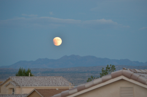 Here's another dreamy super moon image - rising over Sandia Mountains, Santa Ana Pueblo Indian Reservation, tweeted by AP reporter Russell Contreras last night.