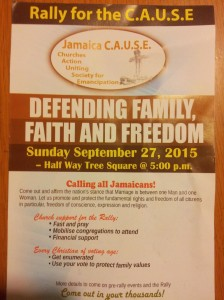 My husband tried to resist, but this leaflet was thrust in his hand, along with a lecture from a member of C.A.U.S.E.