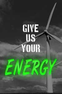 "You can be an ""Energy Band"": Walk for energy conservation and efficiency and stand up for renewable energy, the way of the future!"